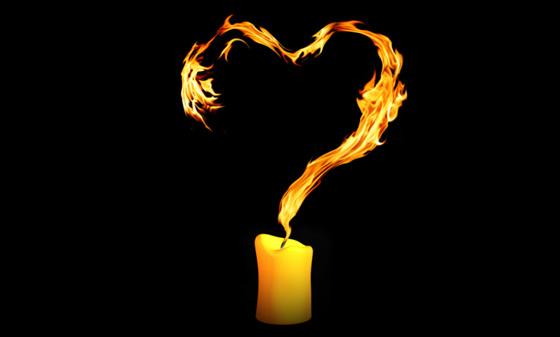 4 candle flame heart1 - Ритуалы на любовь и замужество